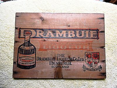 Vintage Wooden Drambuie side of shipping crate