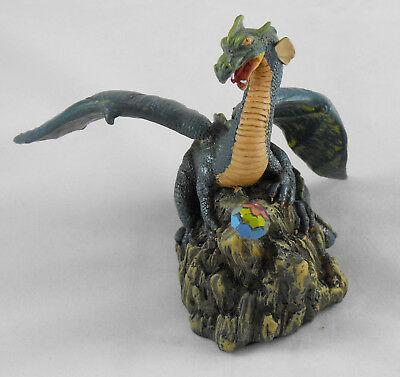 Dragon Statue On Mountain Top Guarding Crystal Originalities Spells Magic New