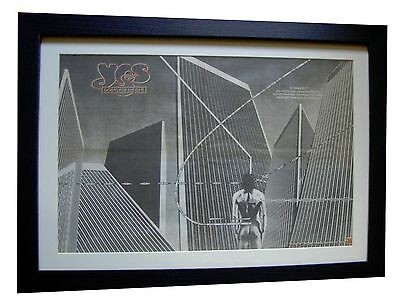 YES+Going For The One+POSTER+AD+RARE ORIGINAL 1977+FRAMED+EXPRESS GLOBAL SHIP