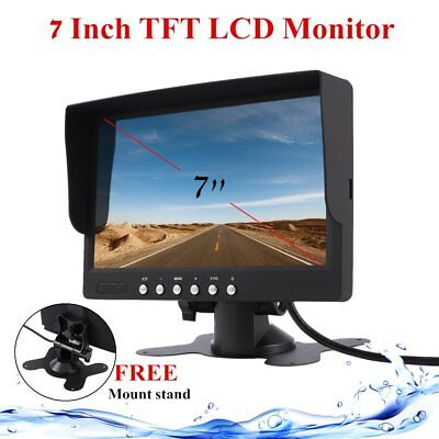 """7"""" Inch LCD Monitor 800x480 TFT Color Screen Two Video Input One Audio Input P6"""