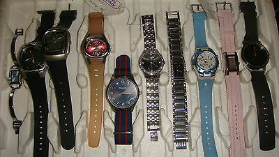Trade Only Job Lot Of 10 X  Mixed Names  Watches 100% Gen <//