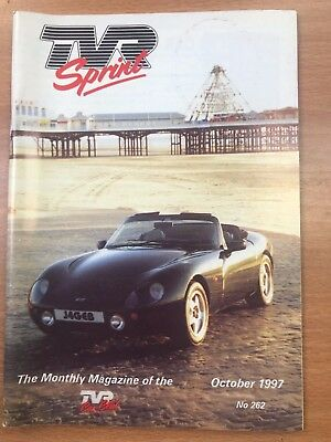 TVR Car Club Sprint Magazine October 1997 Issue No 262 Griffith
