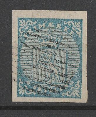 Norway  1855  Number 1 with 12 Bars & Large Margins    Top Quality!