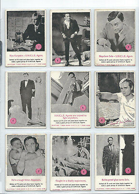 Scanlens - The Man from UNCLE - Complete Card Set (72) 1965 - EX - SEE SCAN