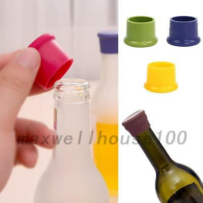 Silicone Wine Beer Cover Bottle Cap Stopper Beverage Home Kitchen Bar Tool New
