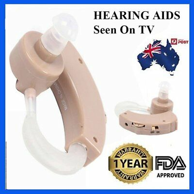 New Tone Hearing Aids Aid Behind The Ear Sound Amplifier Sound Adjustable Kit AU