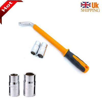 Heavy Duty 17 19 21 23 mm Extendable Wheel Car Brace Socket Tyre Nut Wrench UK