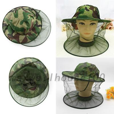 Insect Mosquito Net Mesh Face Fishing Hunting Outdoor Camping Hat Protector