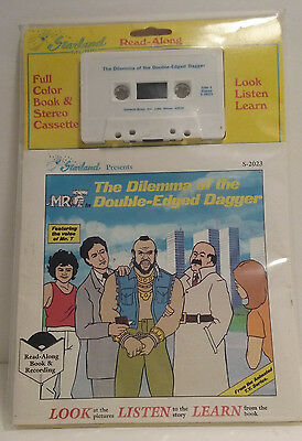 MR.T Read Along Book & Cassette With Mr.T's Voice Vintage Cool Collectible 1984