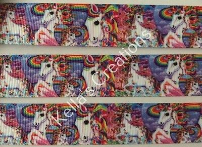"Unicorn/horse Grosgrain Ribbon 1""- 25mm sold by 2 M -Craft- Hair bows-Lanyards"