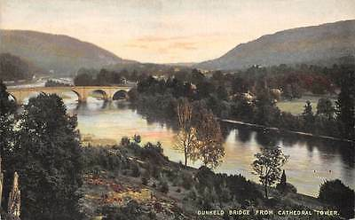 Dunkeld Bridge from Cathedral Tower River Pont Bruecke Dom
