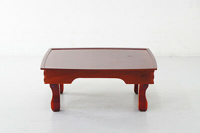 Asian URUSHI Wood Stand Low Table 50x38cm w/Folding Legs Free Shipping 855h12