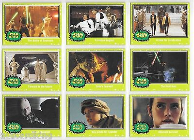Star Wars - Journey to The Force Awakens - Green Parallel - Card Set (110) - NM