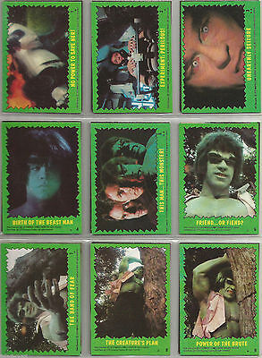 Incredible Hulk - Complete Trading Card Set (88+22) - 1979 Topps - NM