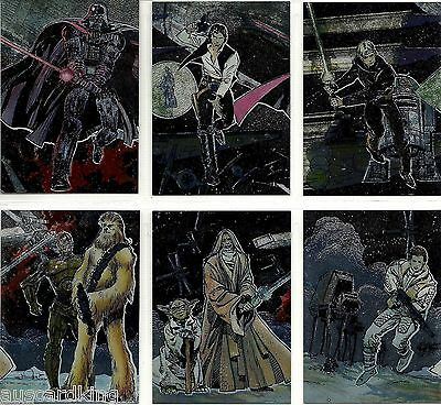 Star Wars - Galaxy Series 1 - Complete Chase Foil Trading Card Set (6) - NM