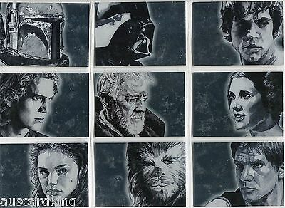 Star Wars - Galaxy Series 4 - Chase Silver Foil Complete Card Set (15) 2009 - NM