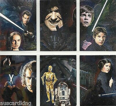 Star Wars - Galaxy Series 4 - Chase Foil Complete Card Set (6) - TOPPS 2009 - NM
