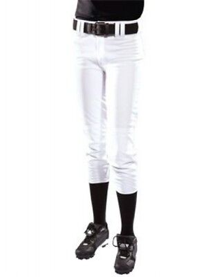 (X-Small, White) - Women's Low Rise Polyester Pant. Teamwork. Best Price
