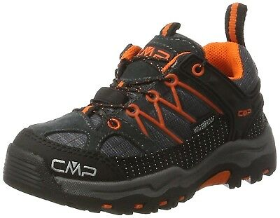 (11.5 UK Child, Black (Asphalt)) - CMP Rigel, Unisex Kids' Low Rise Hiking Shoes