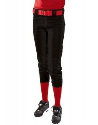 (Small, Black) - Girls' Low Rise Polyester Pant. Teamwork. Free Shipping