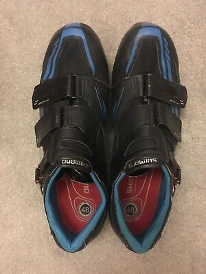 Shimano Dynalast Road Bike Cycling Shoes carbon EU 48 UK 12 used no reserve!