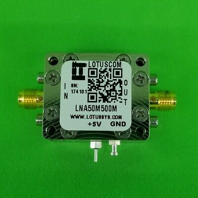 Low Noise Amplifier 1.0dB NF 50MHz to 500MHz 23dB Gain 20dBm P1dB SMA