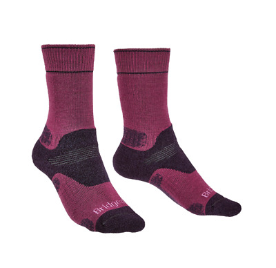 Bridgedale Woolfusion Trekker Women's Sock Black/Purple NEW