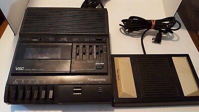 Panasonic Model RR-830 Transcriber Dictation Machine w Foot Pedal (Works Great)