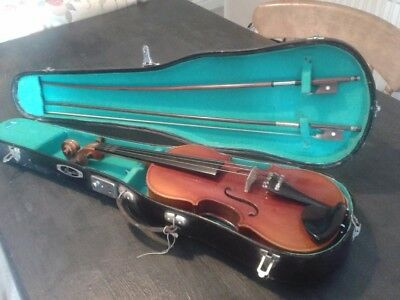 "violin 3/4 22"" with case and two bows"