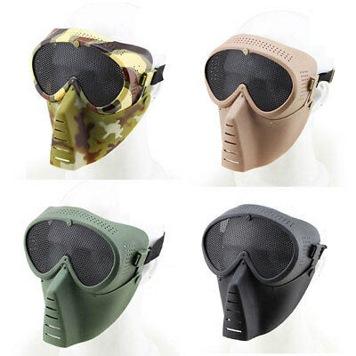 Military Mask Facepiece Anti Fog Archery Paintball Accessories Outdoor