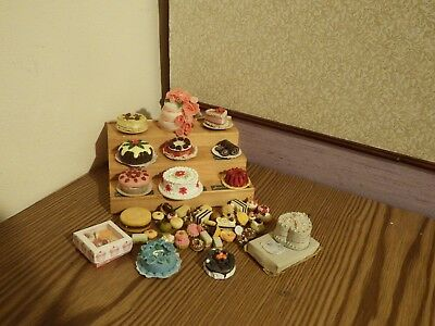 30+  dolls house assortment job lot of cake  items shop/house  1.12th scale