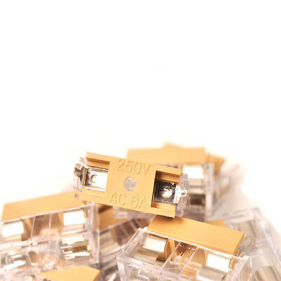 10PCS 5x20mm Fuse 250V 6A Panel Mount PCB Fuse Holder Case With Cover US