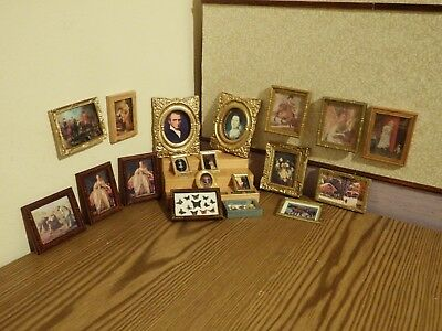 19 dolls house assortment job lot of picture items shop/house 1.12th