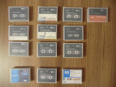 Lote de cartuchos DDS3 12/24GB - DDS-3 Data Cartridge 12/24GB and clean tapes