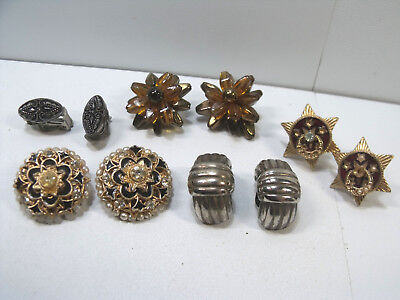 Job Lot Of Antique Vintage  Jewellery Clip On Earrings