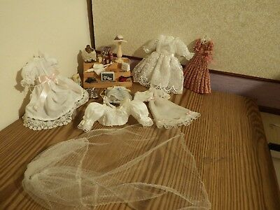 19 dolls house assortment job lot of dress shop items shop/house 1.12th