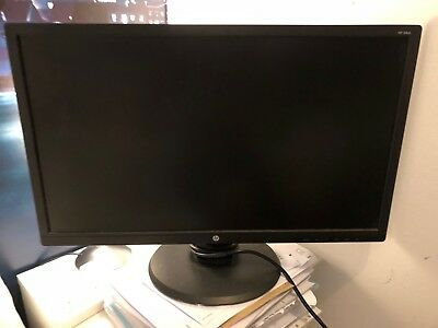 Used 24 Inch Hp Pc Monitor Home Office Computer Black