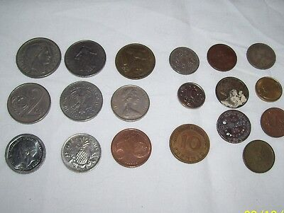 A Bunch Of Foreign Coins