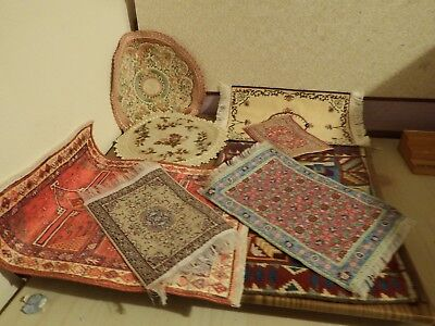 8  dolls house assortment job lot of rug items shop/house 1.12th
