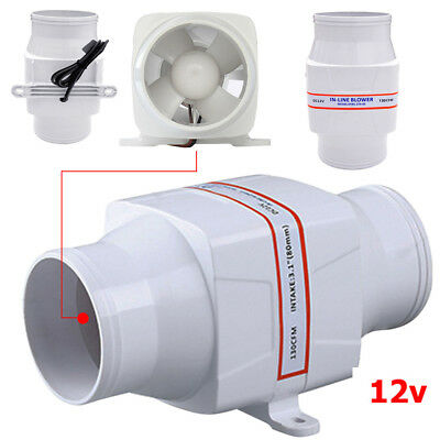 12V 3in Sea Marine in Line Bilge Ventilation Air Blower Fan for Marine Fish