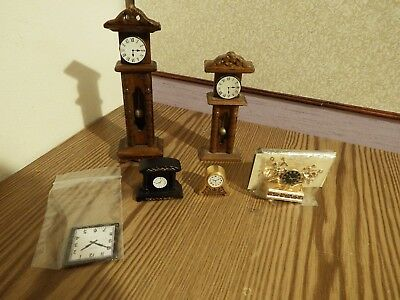 6 dolls house assortment job lot of clock  items shop/house 1.12th
