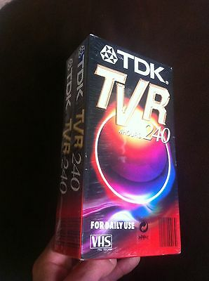 TDK TVR 240 VHS Video Tape 2 pack 4 Hours New Sealed Blank