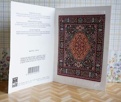 Turkish Carpet-Miniature Carpet Card  ideal for 1/12th Scale Dolls Houses #119