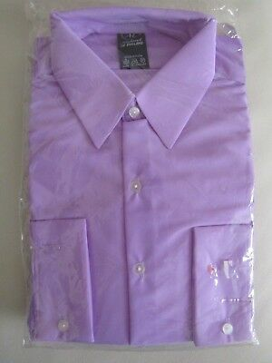 "Vintage Nylon Men's Shirt in Lilac by Michael of England 17.5""- NEW OLD STOCK"