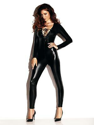 Ann Summers Womens Diva Dominatrix Wet Look Jumpsuit Sexy Bondage Clothing
