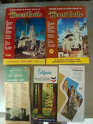 LOT of Vintage CALIFORNIA Road Maps Brochures Gas Station Maps