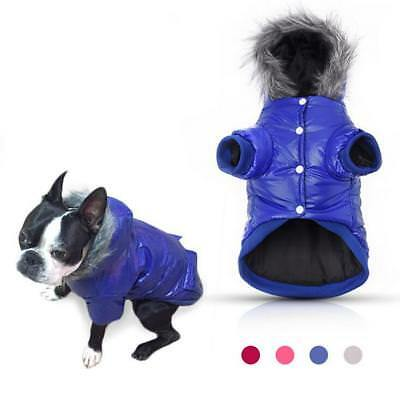 Winter Warm Dog Coats Pet Puppy Cat Clothes Jackets Soft Padded for Small Dogs