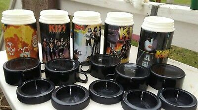 Lot of 5 Kiss Thermos's