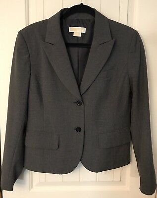 Womens Michael Kors Charcoal Gray Blazer (14)