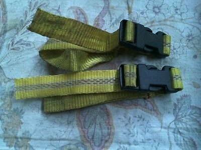 2 Small straps with snap action plastic clip